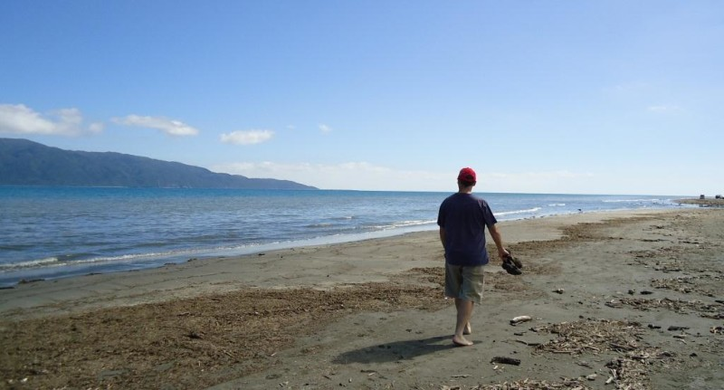 Escape from Wellington to Paraparaumu beach - 1 March 2013