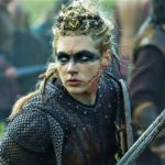 Lagertha, from the television series: Vikings - often misrepresented as 'Celtic' or 'Oirish' warrior online